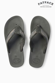 FatFace Grey Harris Flip Flop