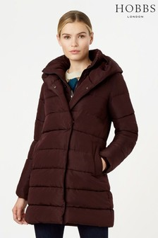 Hobbs Purple Hadley Padded Coat