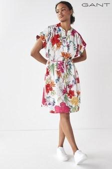 GANT Eggshell Humming Floral Popover Dress
