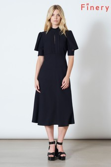 Finery London Blue Beaumont Sleeve Detail Full Dress