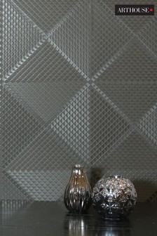 Arthouse Geometric Diamond Foil Wallpaper