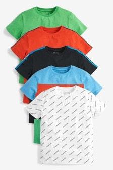 5 Pack T-Shirts (3-16yrs)