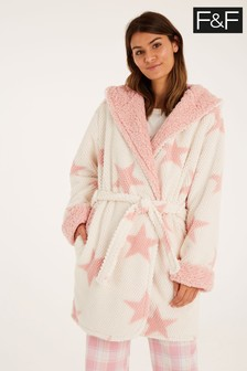 F&F Bobble Star Cream Robe