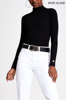 River Island Black Rita Turtle Neck Jumper