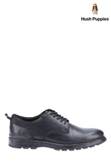 Hush Puppies Black Dylan Lace Shoes