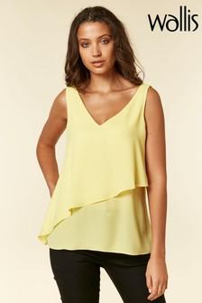 Wallis Yellow Asymmetric Cami