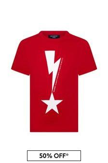 Neil Barrett Boys Red Cotton T-Shirt