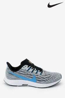 Nike Run Grey/Blue Air Zoom Pegasus Trainers