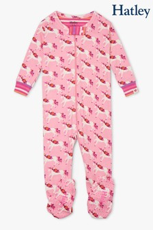 Hatley Floral Unicorns Organic Cotton Footed Coverall