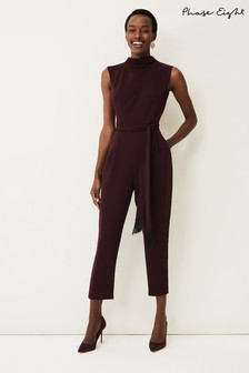 Phase Eight Red Zinnia Cowl Neck Jumpsuit