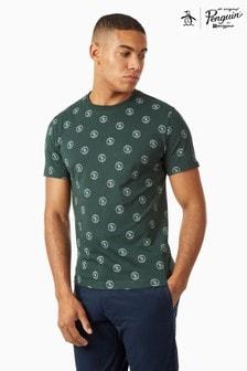Original Penguin® T-Shirt Featuring All Over Printed Branding