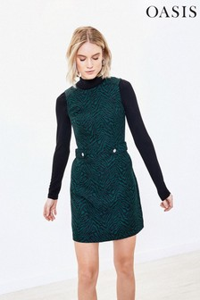 Oasis Green Animal Shift Dress