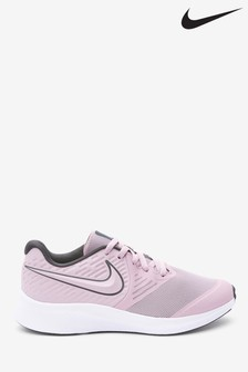 Nike Pink/White Star Runner Youth Trainers