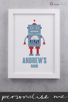 Personalised Robot Wall Art by Loveabode
