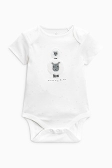 Mummy Short Sleeve Bodysuit (0-18mths)