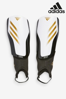 adidas White X Kids Shin Guards