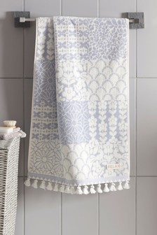 Floral Tile Towel