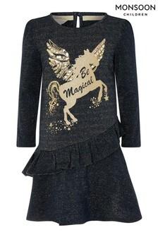 Monsoon Blue Be Magical Unicorn Sweat Dress