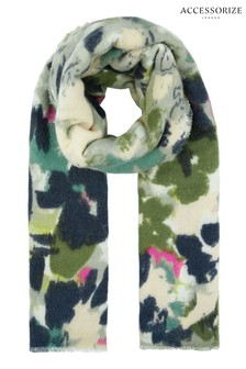 Accessorize Green Brushed Meadow Soft Scarf