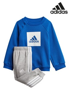 adidas Infant Blue Crew And Joggers Set