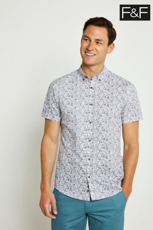 F&F Multi White Convo Print Shirt