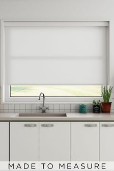 Star Ice White Made To Measure Light Filtering Roller Blind
