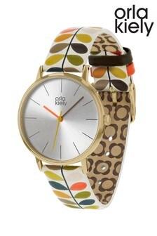 Orla Kiely Ladies Multicoloured Stem Print Strap Watch