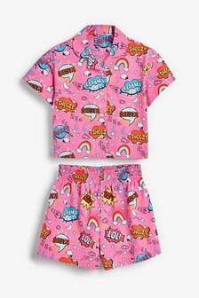 Comic Print Button Through Pyjamas (2-16yrs)