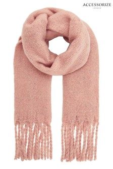Accessorize Pink Speckled Super Fluffy Scarf