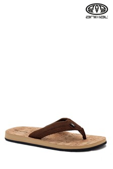 Animal Brown Corky Flip Flops