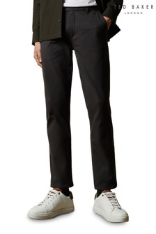 Ted Baker Grey Saba Slim Semi Plain Trousers