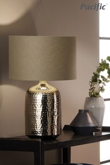 Mambo Hammered Metal Table Lamp by Pacific Lifestyle