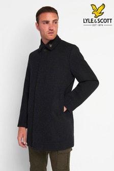 Lyle & Scott Charcoal Marl Wool Mac Coat