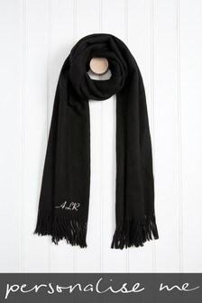 Personalised Black Tassel Scarf