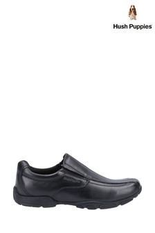 Hush Puppies Black Elijah Senior School Shoes