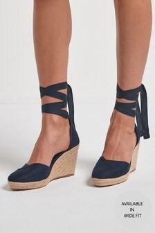 Ankle Tie Espadrille Wedges