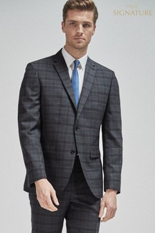 100% Wool Check Suit: Jacket