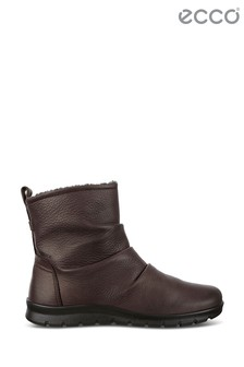 ECCO® Brown Coffee Side Zip Rouche Boot