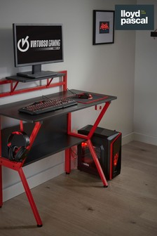 Rogue Gaming Desk Black And Red By Lloyd Pascal