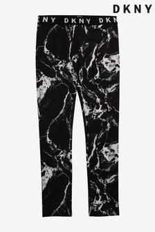DKNY Black Distorted Leggings