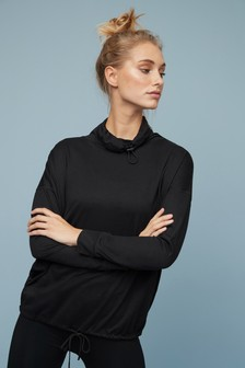 Cowl Neck Long Sleeve T-Shirt