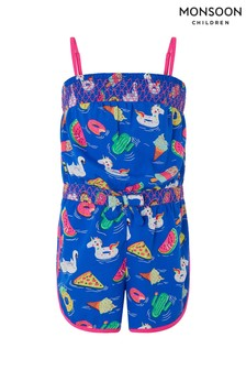 Monsoon Children Blue Ocean Print Playsuit