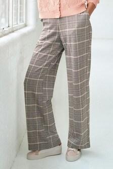 Jersey Wide Leg Trousers