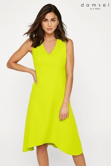 Damsel In A Dress Yellow Camilla V-Neck Dress