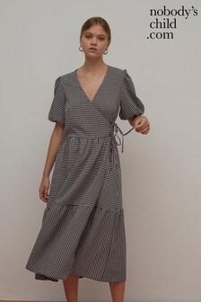 Nobody's Child Nina Gingham Midi Dress