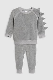 Spike Sleeve Velour Crew And Jogger Set (3mths-6yrs)