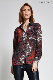 Harpenne Red Paisley Print Blouse