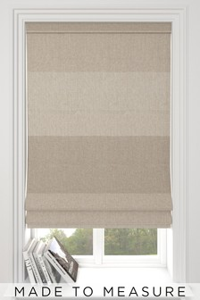 Made To Measure Natural Locksley Woven Stripe Roman Blind