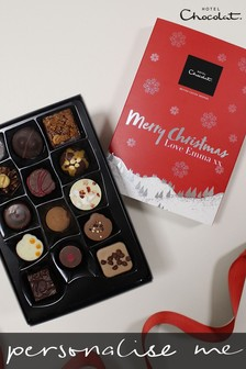Personalised Merry Christmas Everything H Box by Hotel Chocolat