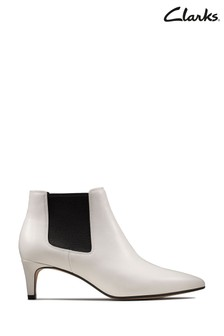 Clarks White Laina Boots